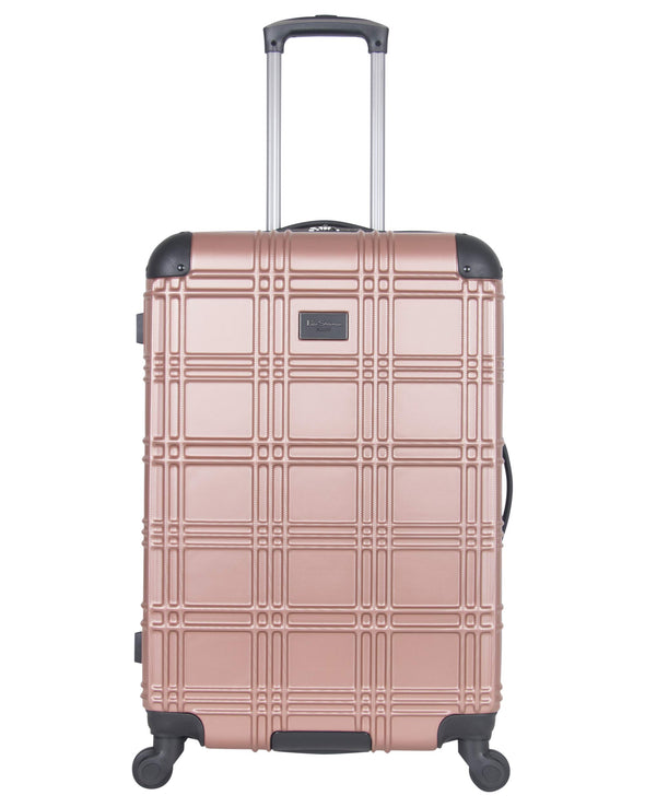 "Nottingham 24"" Embossed Hardside Checked Luggage - Rose Gold"