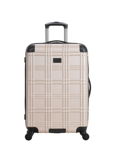 "Nottingham 24"" Embossed Hardside Luggage - Light Gold"