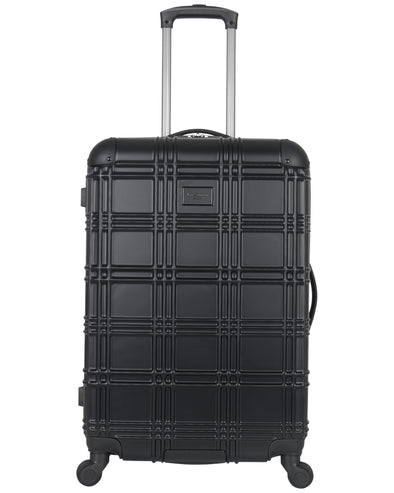 "Nottingham 24"" Embossed Hardside Checked Luggage - Black"