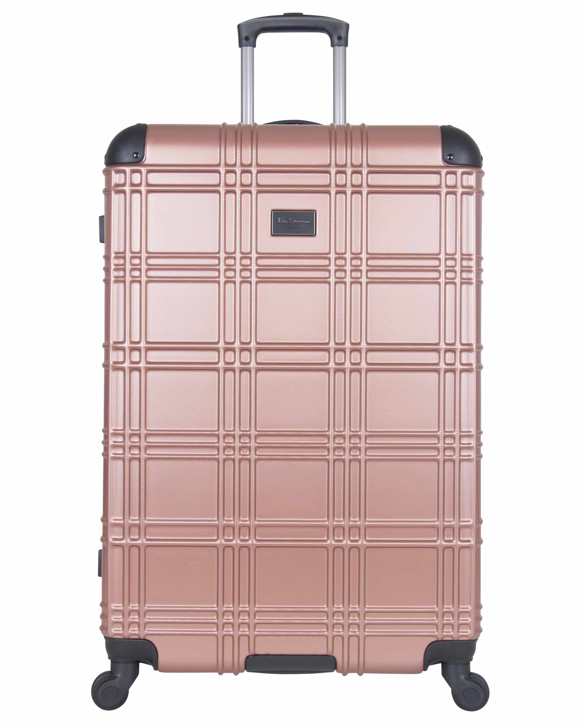 "Nottingham 28"" Embossed Hardside Checked Luggage - Rose Gold"