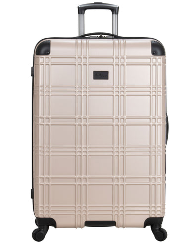 "Nottingham 28"" Embossed Hardside Carry-On Luggage - Light Gold"