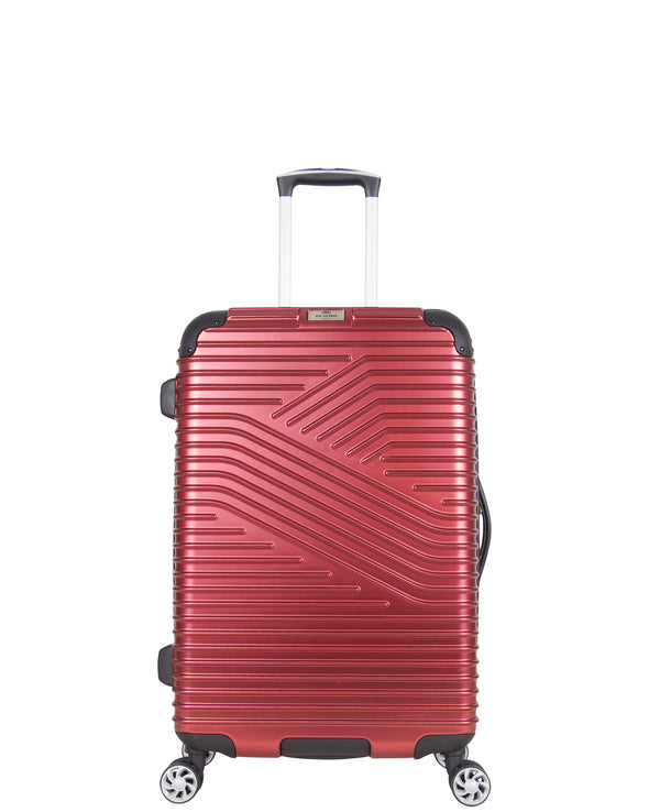 "Bangor 24"" Upright Checked Luggage - Red"