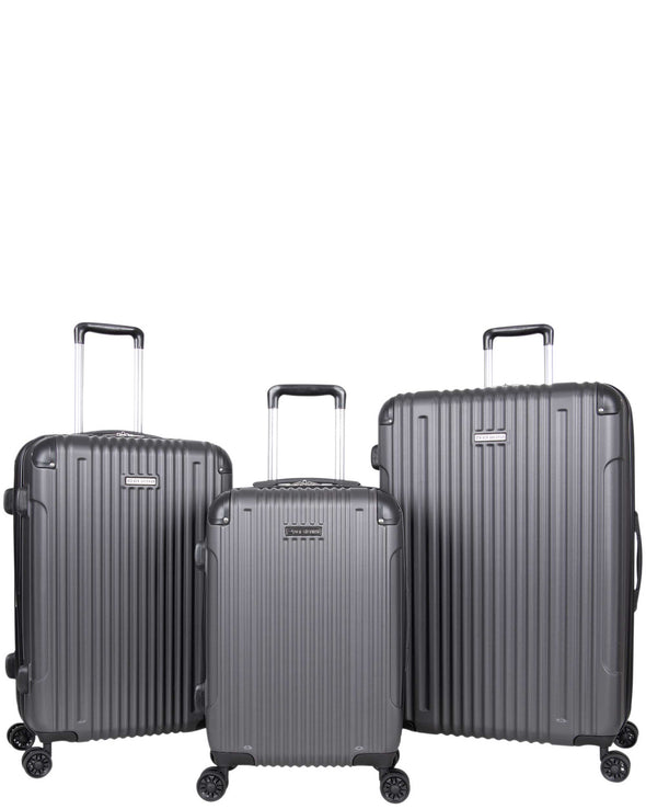 Heathrow Haul 3-Piece Lightweight Expandable Luggage Set - Charcoal