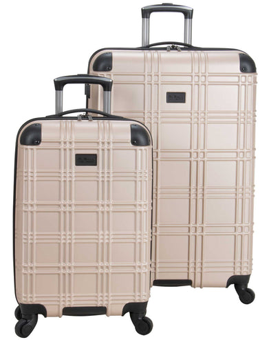 Nottingham 2-Piece Embossed Hardside Luggage Set - Light Gold