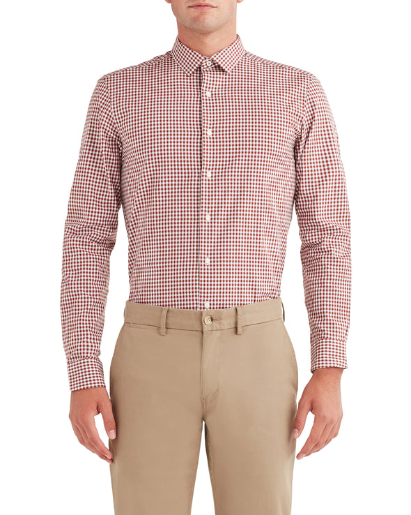 Dobby Gingham Dress Shirt - Spice