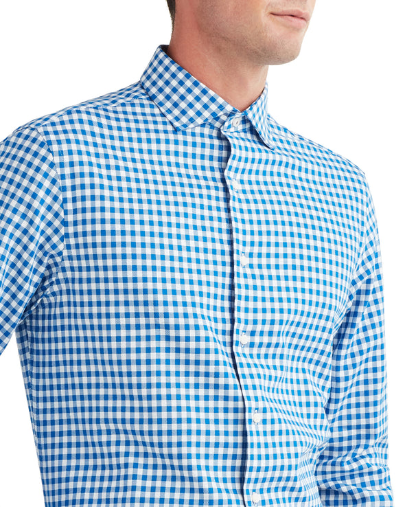 Twill Gingham Dress Shirt - Royal