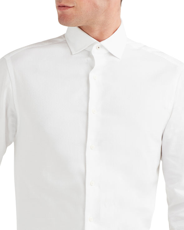 Diamond Texture Dress Shirt - White