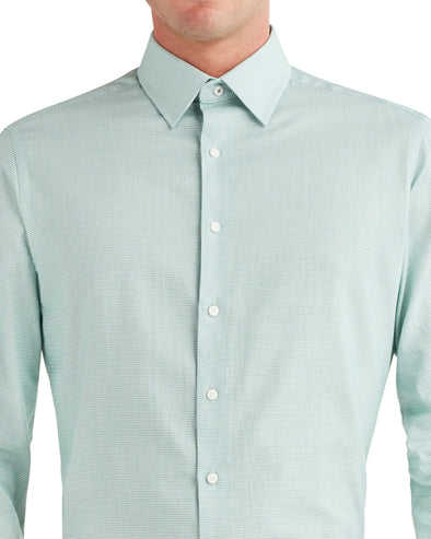 Unsolid Dobby Dress Shirt - Green