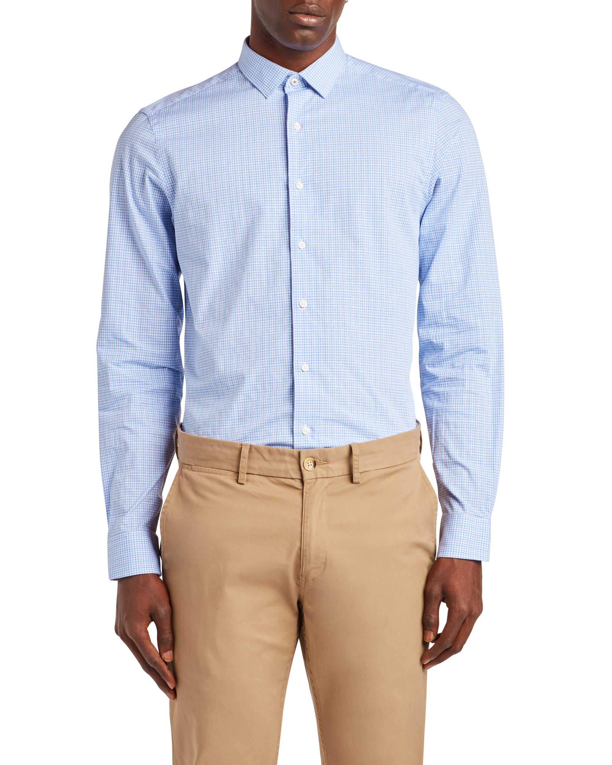 Check Skinny Fit Dress Shirt - Lavender