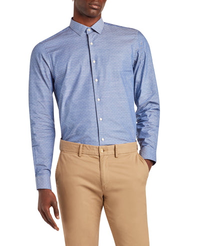 Dobby Slim Fit Dress Shirt - Lavender