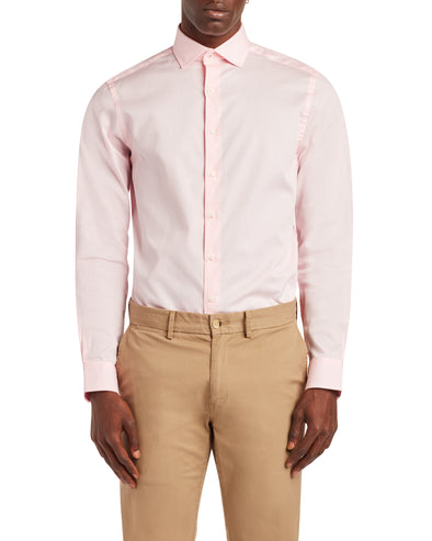 Argyle Dobby Slim Fit Dress Shirt - Pink