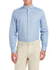 Dobby Unsolid Slim Fit Dress Shirt - Blue
