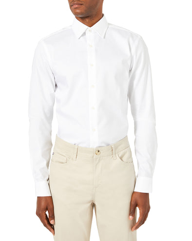 Pinpoint Skinny Fit Dress Shirt - White