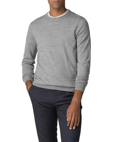 Merino Crewneck Sweater - Mid Grey Marl