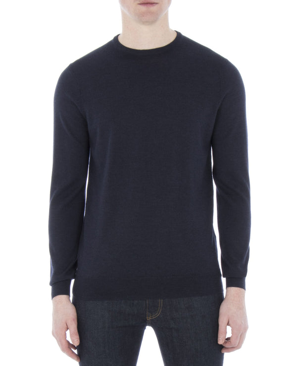 Merino Crewneck Sweater - Navy Blazer