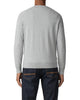 Raglan Sleeve Crewneck Sweater - Mid Grey Marl