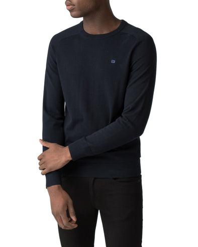 Raglan Sleeve Crewneck Sweater - Navy Blazer