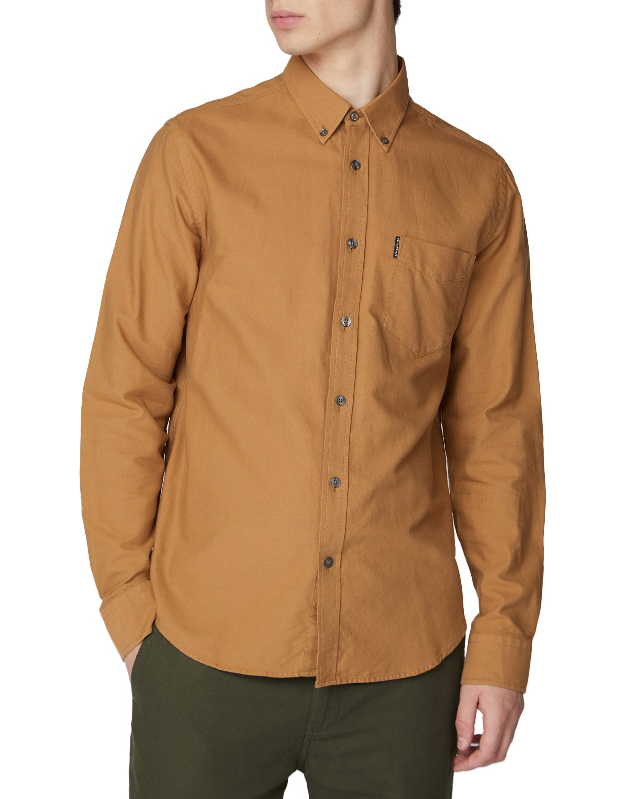Long-Sleeve Core Oxford Shirt - Camel