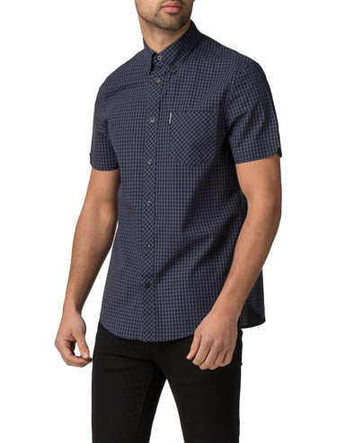 Short Sleeve Core Gingham Shirt - Phantom