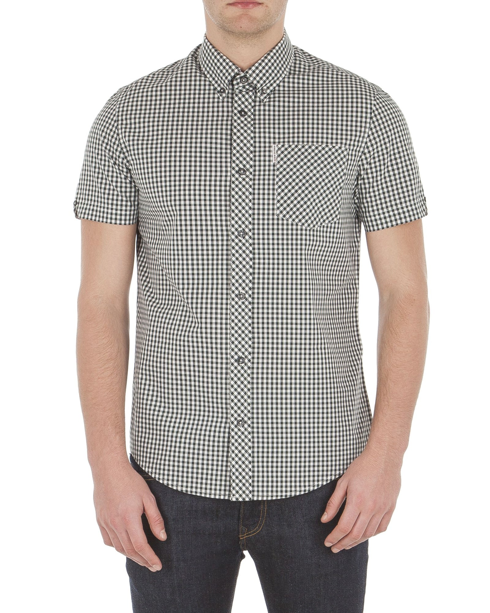 Short Sleeve Core Gingham Shirt - Racing Green