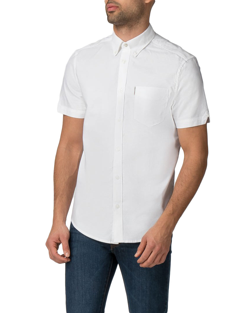 Short-Sleeve Core Oxford Shirt - Bright White