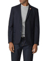 Tipped Flannel Blazer - Navy