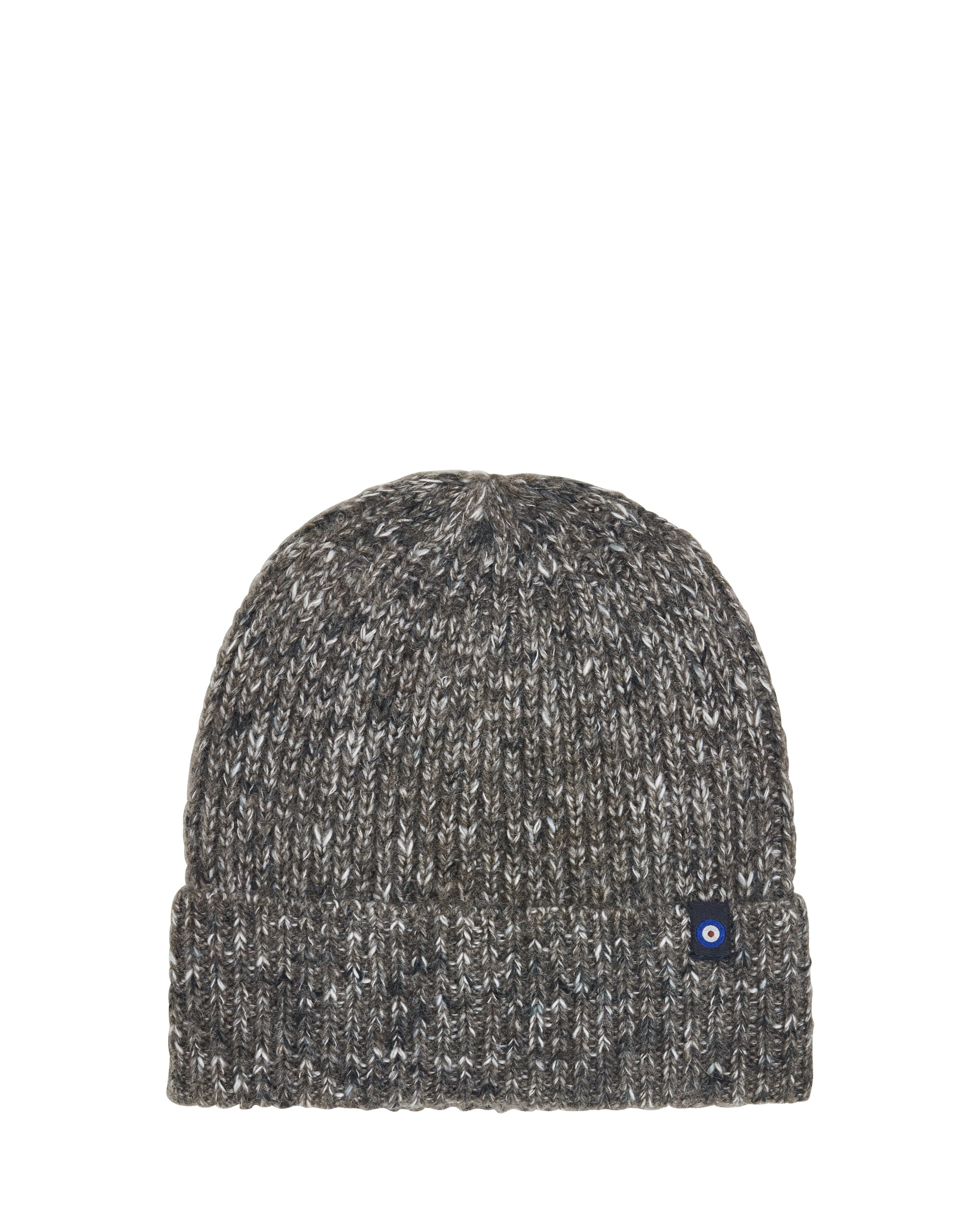 Speckle 1x1 Rib Cuff Toque Beanie Hat - Charcoal