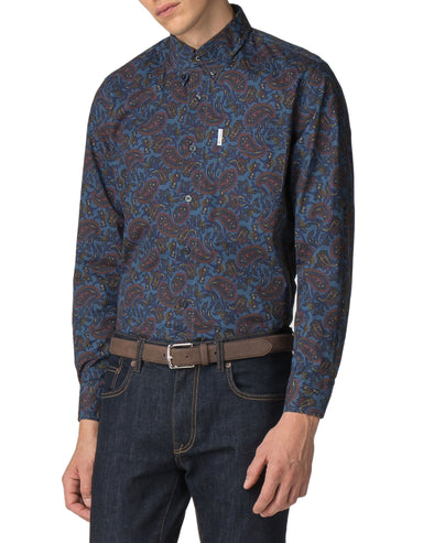 Long-Sleeved Archive Vega Shirt - Sargasso Sea