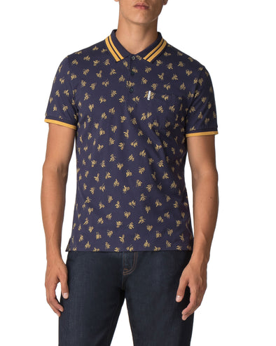 Archive Print Polo - Navy