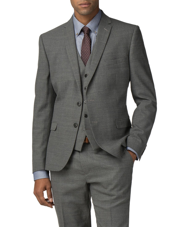High-Twist Texture Stretch Camden Fit Suit Jacket - Grey