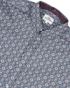 Long-Sleeve Foulard Geo Shirt - Navy