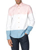 Long-Sleeve Pink White & Blue Striped Oxford Shirt - Pink