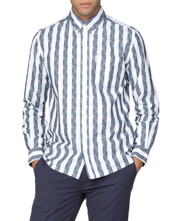 881b8553 Long-Sleeve Archive Deerfield Shirt - Navy Blazer