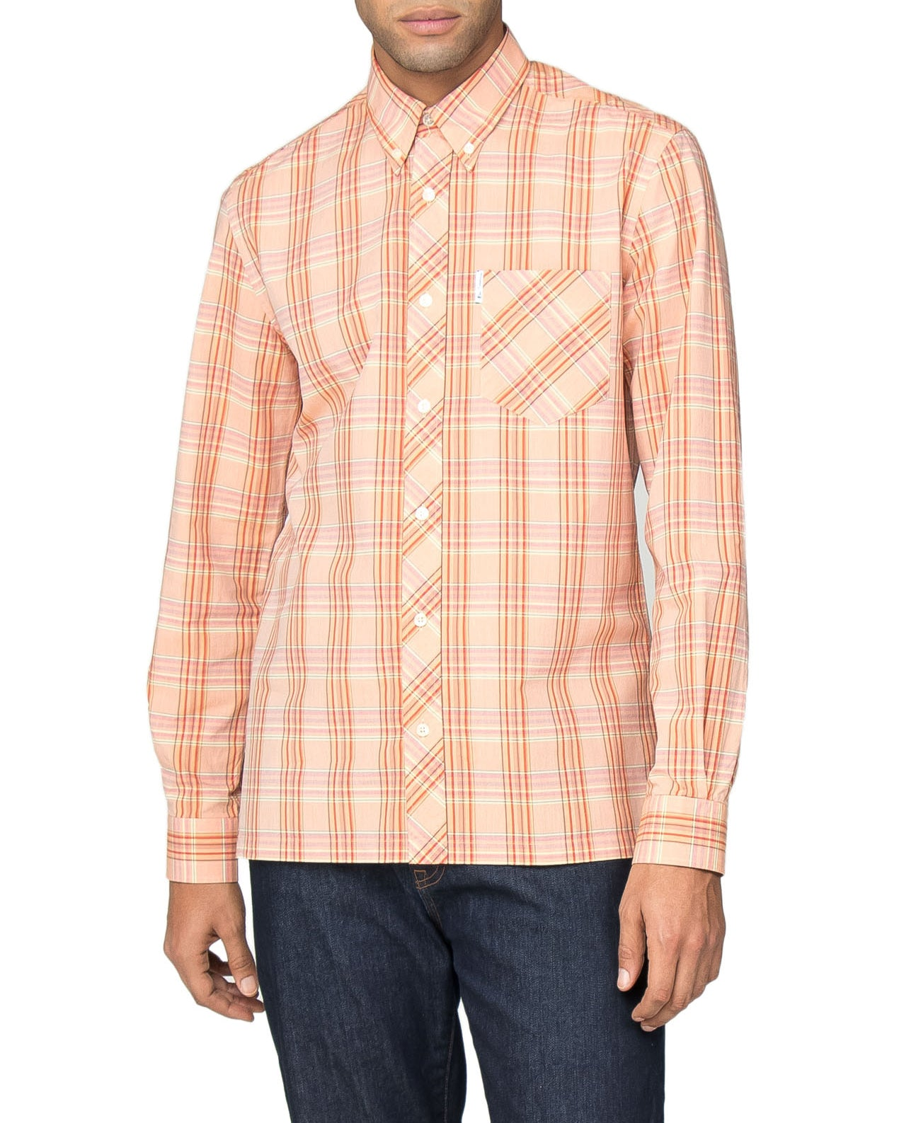 Long-Sleeve Archive Cambridge Shirt - Orange