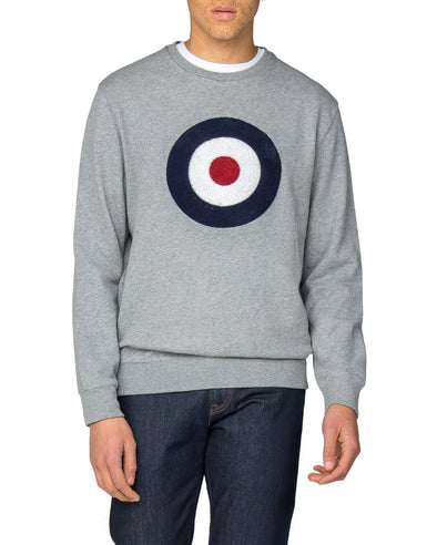 Applique Target Sweatshirt - Grey