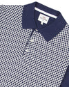 Micro-Geo Knit Polo Shirt - Navy