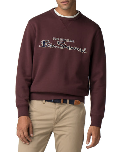 Archive Script Logo Sweatshirt - Dark Red