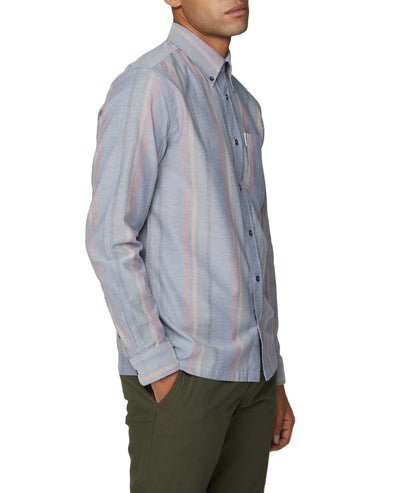 Long-Sleeve Archive Oxford Stripe Shirt - Dark Blue