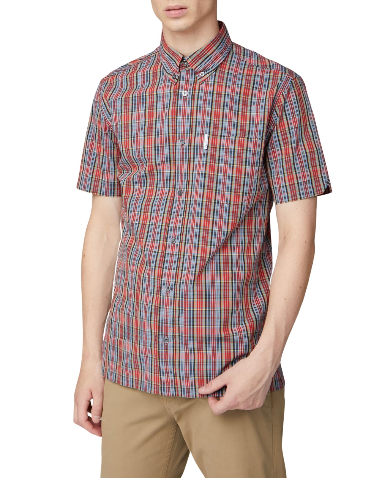 Short-Sleeve Archive Check Shirt - Red