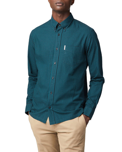 Long-Sleeve Archive Modernist Gingham Shirt - Trekking Green