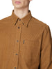 Long-Sleeve Cord Overshirt - Tan