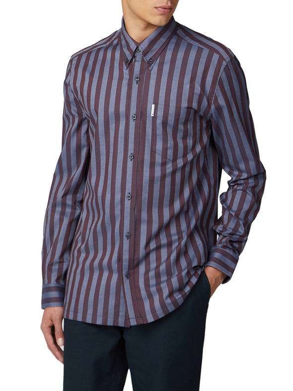Long-Sleeve Archive Candy Stripe Oxford Shirt - Chestnut