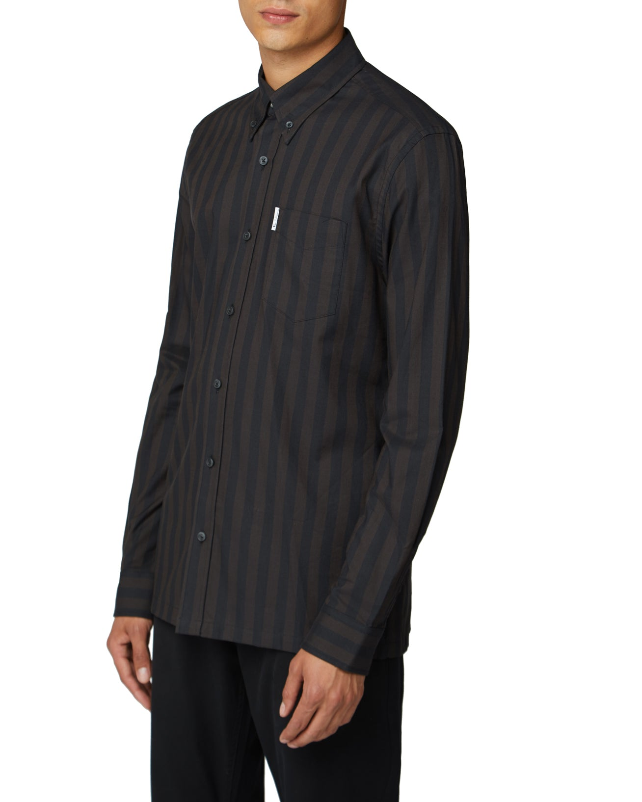 Long-Sleeve Archive Candy Stripe Oxford Shirt - Anthracite