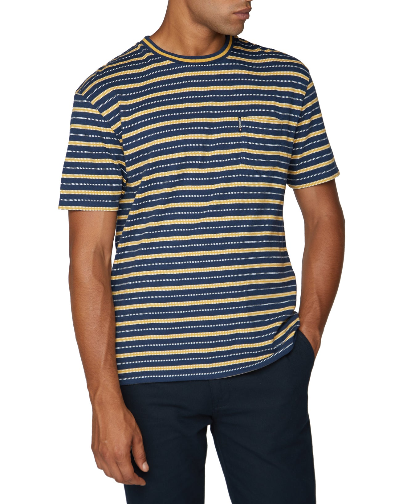 Retro Stripe Tee - Midnight
