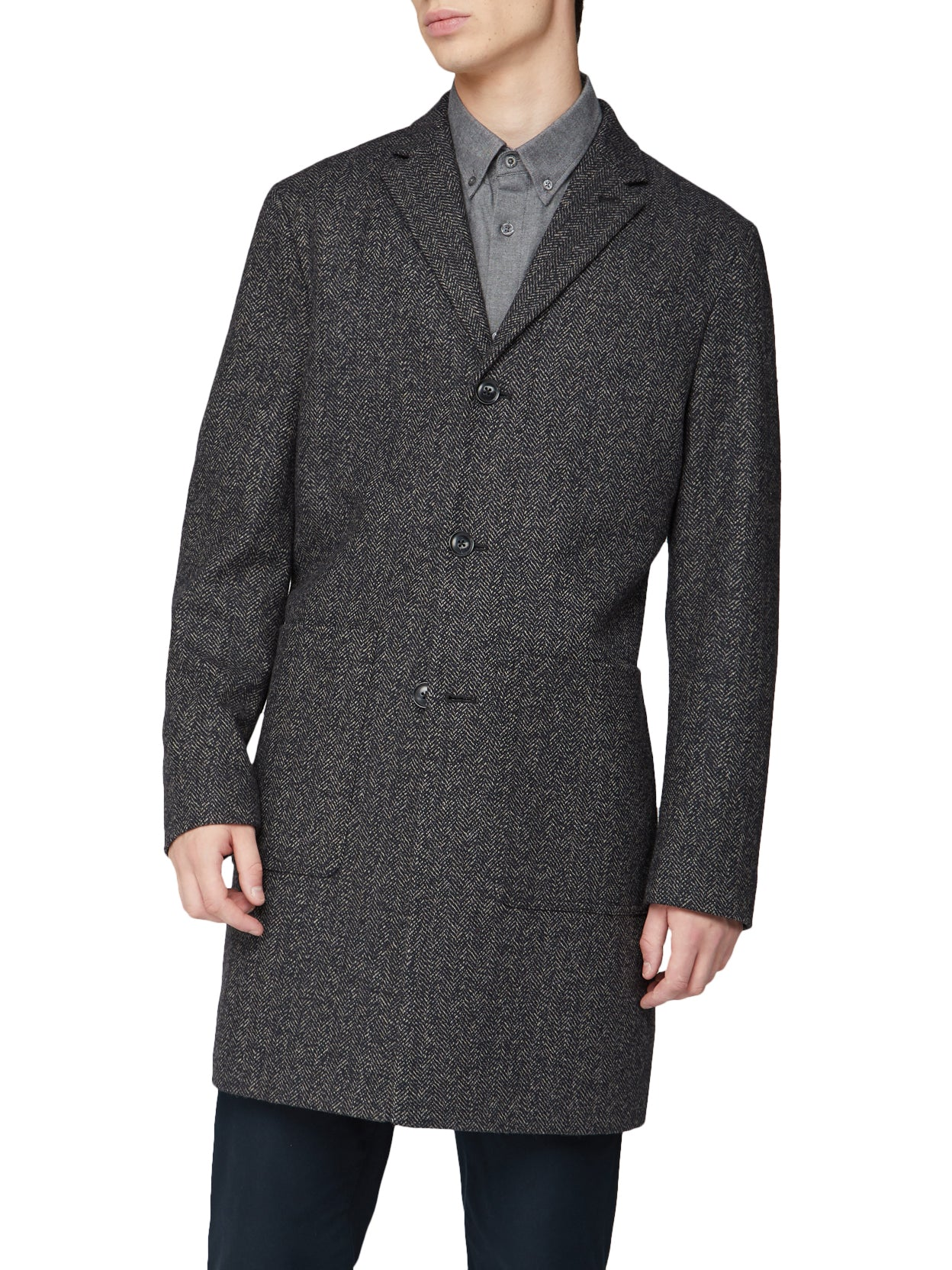 Herringbone Overcoat - Coffee