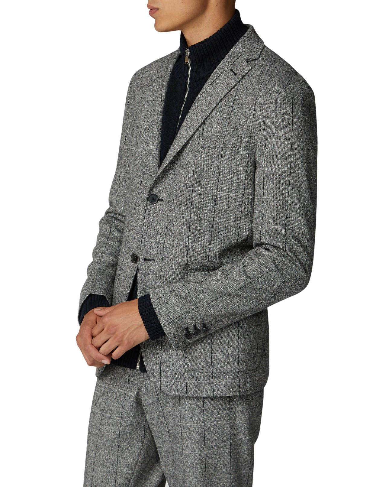Salt and Pepper Blazer - Grey