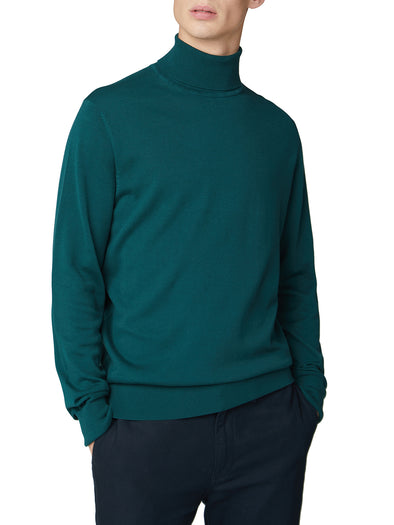 Cotton Roll Neck Sweater - Green