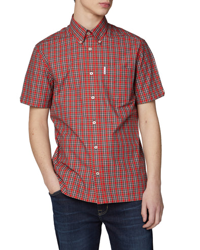Short-Sleeve Archive Heritage Check Shirt - Red