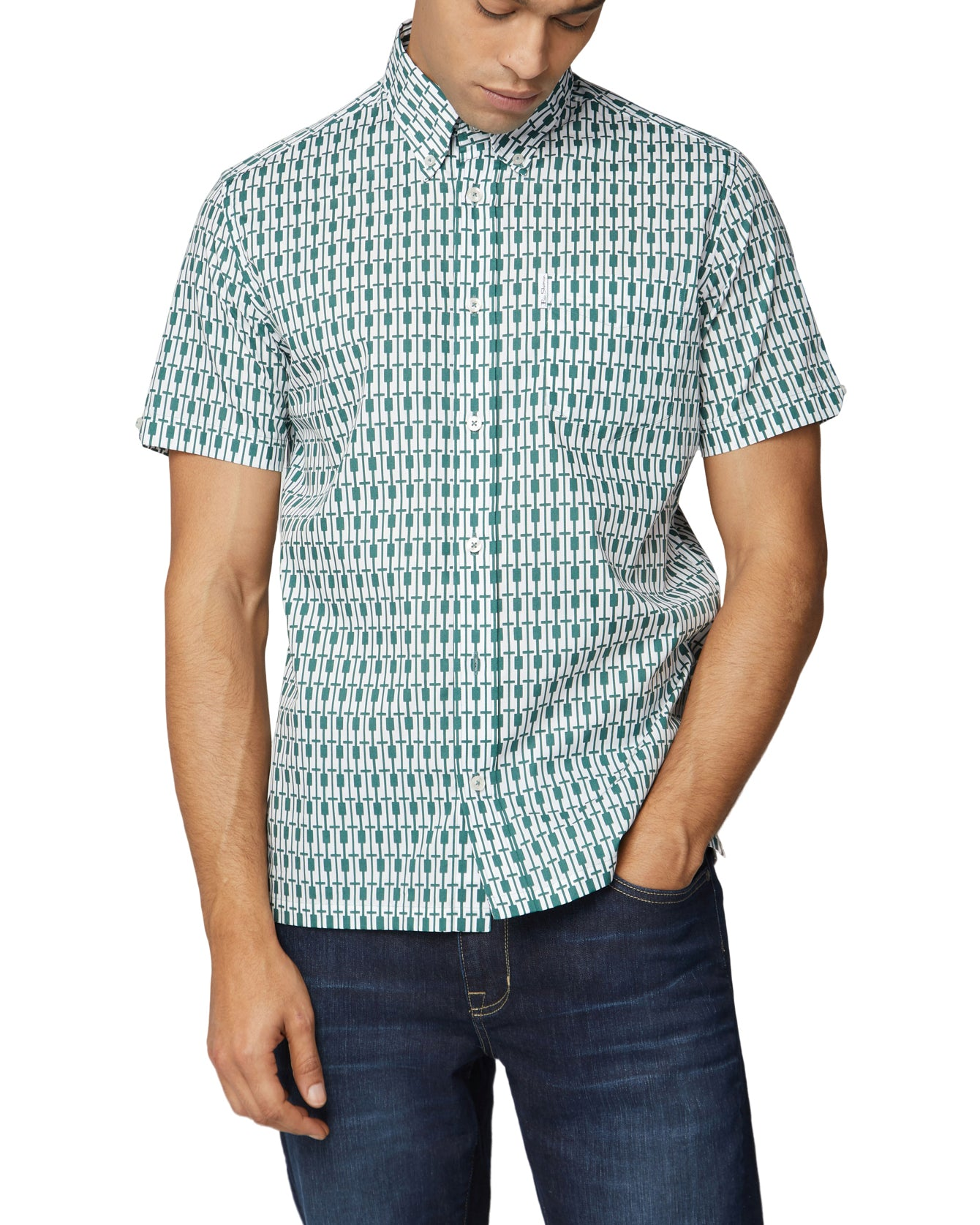 Short-Sleeve Archive Piper Shirt - Trekking Green