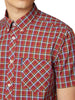 Short-Sleeve Check Shirt - Red